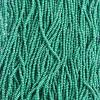 Cut 13/0 Opaque Medium/dark Green Strung